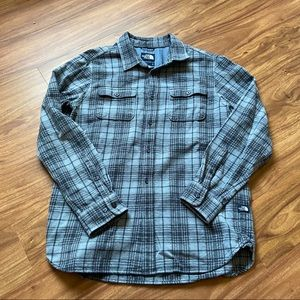 Vintage gray north face flannel